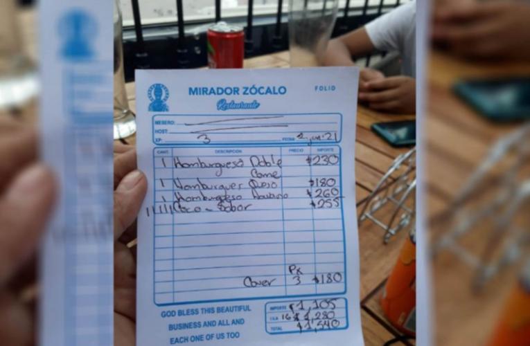 Estafa en restaurante del Zócalo: la obligan a pagar $1,540 por hamburguesas