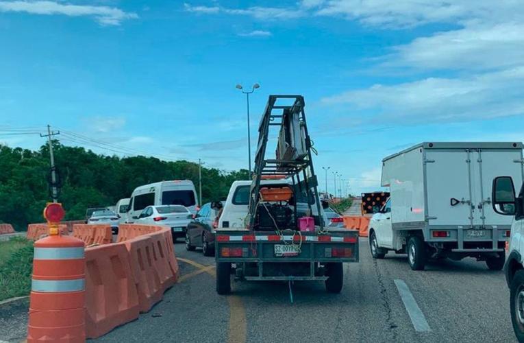 Entrarán en operación dos carriles más en carretera Cancún-Playa del Carmen