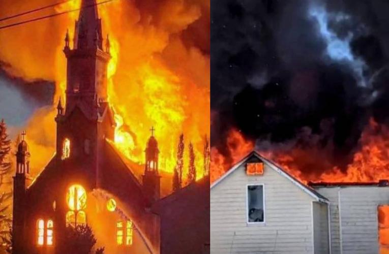Arden iglesias en Canadá tras el hallazgo de tumbas de niños indígenas