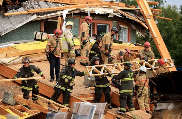 Otro derrumbe en E.U; Colapsa edificio en Washington