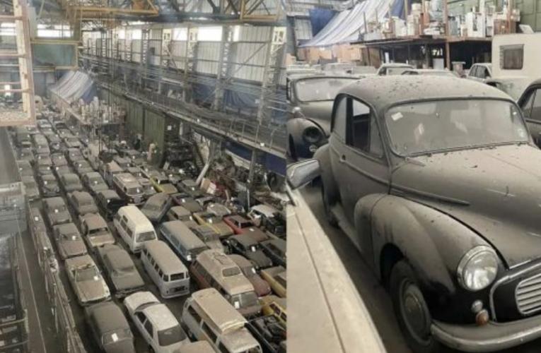Encuentran una valiosa colección de casi 200 coches clásicos abandonados