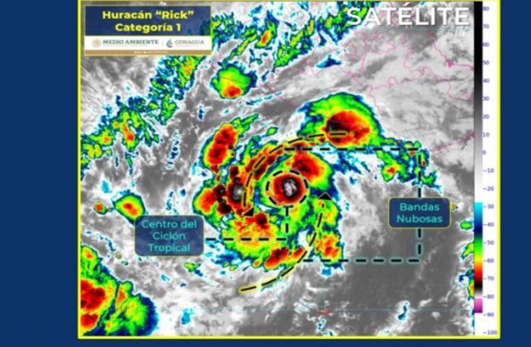 Rick se intensifica a Huracán Categoría 1; lloverá en 5 estados